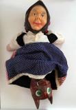 Cumpara ieftin F. RAR: Păpușă marionetă Arădeanca, Scufița Roșie 3 in 1, anii '80 România