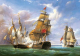 Puzzle Castorland 3000 Combat between the French Frigate La Canonniere and the English Vessel---