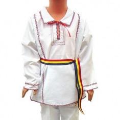 Costum popular traditional baiat 92-98 cm OFERTA, Universal, Alb
