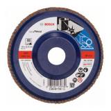 Disc evantai pentru slefuire Bosch, 125 x 22.23 mm, granulatie 60