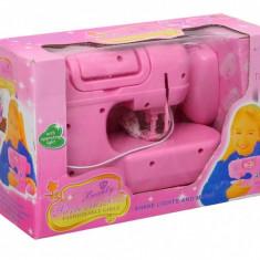 Masina de cusut roz cu sunete si ac - 1803