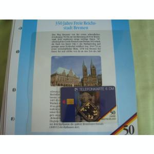 3 Cartele Telefonice 50 Jahre Deutschland - Exponate NOI / 24
