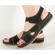 Sandale negre cu gel pe talpa 154056M