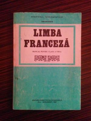 Manual de Limba Franceza, clasa a VIII-a - Dan Ion Nasta foto