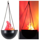 Lampa decorativa suspendata cu flacara falsa, Generic