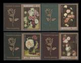 Romania 2013, Trandafiri in pictura LP 2007 b, serie cu vignete trandafiri MNH