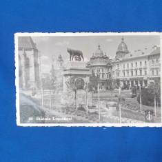 CARTE POSTALA * CLUJ , STATUIA LUPOAICEI  , FOTOFILM CLUJ , 1940
