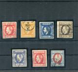 1871/72  ROMANIA    CAROL I CU BARBA , NEDANTELATE - STAMPILATE
