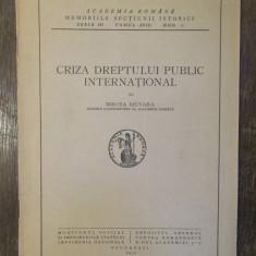 CRIZA DREPTULUI PUBLIC  INTERNATIONAL -MIRCEA DJUVARA