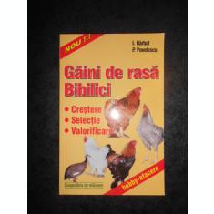 I. BARBAT. P. PAVELESCU - GAINI DE RASA. BIBILICI