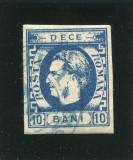 Cumpara ieftin 1869 , ROMANIA , Lp 26, Carol I cu Favoriti 10 bani - stampilat, Nestampilat