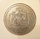 SV * Romania  5  LEI  1901   Carol I Rege   25 GRAME  ARGINT .835   relativ rara