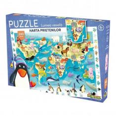 Puzzle 240 piese Lumea Vesela Harta prietenilor