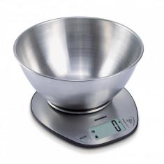 Cantar de bucatarie heinner optim 5 hks-5ss design din inox capacitate maxima: 5kg functie tara