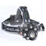 Lanterna de Cap 8 LED + 1 Cob cu Acumulatori BL-T88-8
