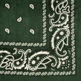 Bandana floral - verde inchis - militar