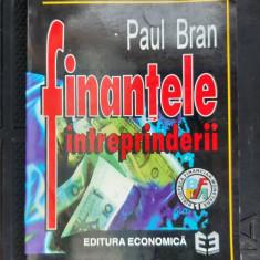 FINANTELE INTREPRINDERII - PAUL BRAN ,STARE FOARTE BUNA .