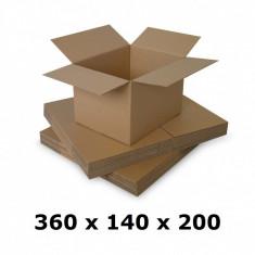 Cutie carton 360x140x200, natur, 3 starturi CO3, 435 g/mp