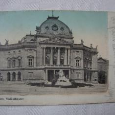 Carte postala necirculata, Teatrul poporului din Viena, fondat in anul 1889