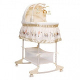 Leagan cu landou Multifunctional Moni Bassinet Nap Beige