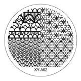 Cumpara ieftin Matrita Metalica Stampila Unghii XY-A02 - Nature