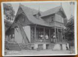 Foto pe carton gros ; Vila Esmeralda , Sinaia , 5 Mai 1912 ; Cap. Eugen Linde