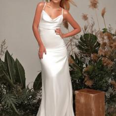 Rochie lungă de mătase