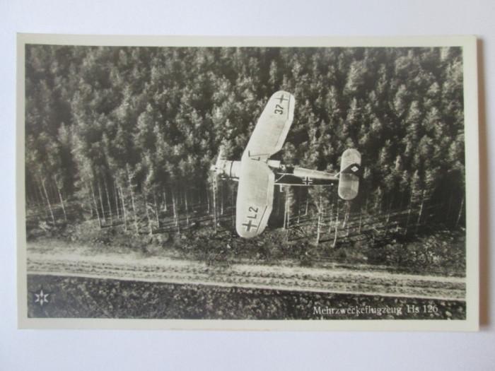 Carte postala/fotografie originala avion german recunoastere:Henschel Hs 126