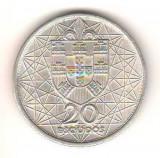 SV * Portugalia  20 ESCUDOS 1966 * ARGINT * LISABONA * PODUL SALAZAR       AUNC+, Europa