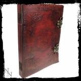 Agendă / Jurnal cu coperți piele și încuietoare dubla Cartea Umbrelor mare