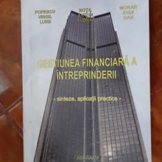 GESTIUNEA FINANCIARA A INTREPRINDERII SINTEZE APLICATII PRACTICE