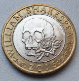 Moneda 2 pounds 2016 Marea Britanie, Shakespeare-Tragedies