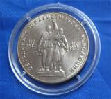 BULGARIA - 1969:  MONEDA 1 LEVA 25 ANI DE LA REVOLUTIA SOCIALISTA IN BULGARIA, Europa, Cupru-Nichel