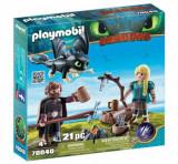 Playmobil Dragons III, Hiccup, Astrid si pui de dragon