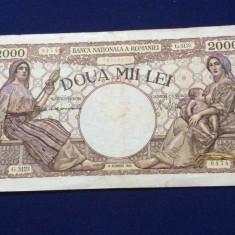 BANCNOTE ROMANIA - 2.000 LEI 10 OCTOMVRIE 1944 - SERIA G.3123 0474