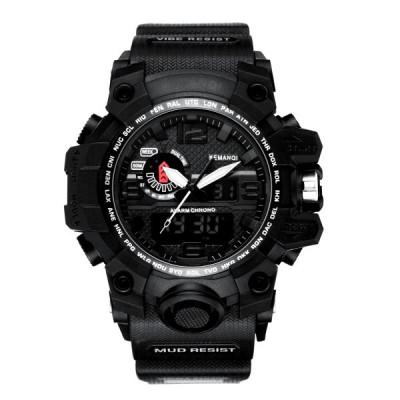 Ceas Barbatesc KEMANQI CS1002, curea silicon, digital watch foto