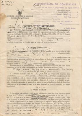 România, contract de arendare, Călan, 1941 foto