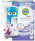 Dispenser automat cu senzor Dettol Kids No Touch pentru sapunul lichid + Rezerva sapun lichid Dettol Kids No Touch cu Aloe Vera, 250 ml
