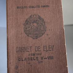 Carnet de Elev RSR pentru Clasele V-VIII Liceul Mihai Eminescu Iasi