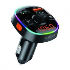 Modulator E-boda, Bluetooth 5.0, incarcare rapida, microfon incorporat, afisaj digital, 2 x USB, Micro SD, distanta semnal 10 m, Negru