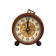 Ceas de masa maro 13x13 cm