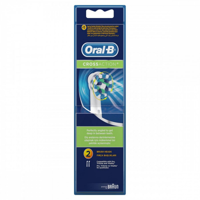 Rezerva periuta de dinti electrica Oral-B EB50 CrossAction, 2 buc