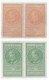 Romania, lot 336 cu 4 timbre fiscale generale, 1932, MNH, Nestampilat