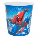 Cos de gunoi pentru birou, model spiderman, 5.5 lt, multicolor