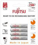 Acumulatori AAA, R3, Fujitsu minim 750mAh, Ni-MH, 4 Bucati / Set