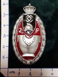 Insigna 7-ani REGIMENT 2 PIONIERI GARDA BUCURESTI ; reproductie Regalista