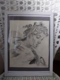 Portretul Femeii din perioada Renascentisa, Portrete, Carbune, Altul