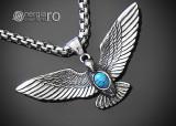 Medalion Talisman Amuleta Pandantiv Vultur Protector INOX - cod PND181
