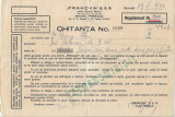 Chitanta butelie Pebegaz Prahova SAR 1943