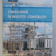 CONSULTANTA IN INVESTITII - CONSTRUCTII de PETRE IONITA , 2002